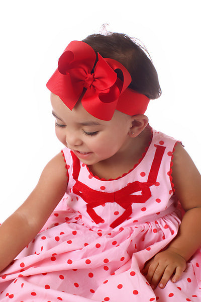Solid Plain Grosgrain Hair Bow or Baby Headband-CHOOSE COLOR