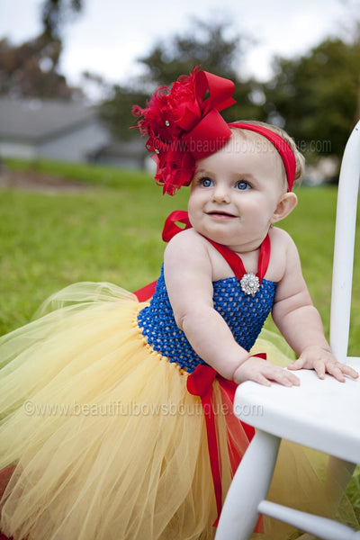 Buy Big Solid Red Over The Top Girls Hair Bow Headband, Snow White Baby Girls Headband Online