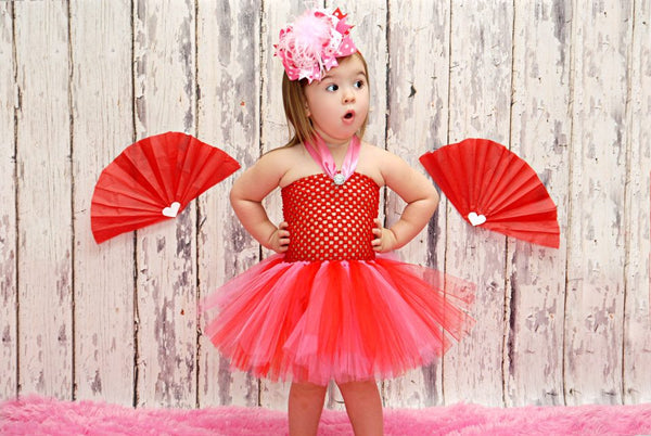 Hot Pink Red Valentine Tutu Dress