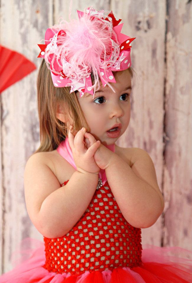 buy baby valentine bowsover the top bows valentines daybaby headbandsred