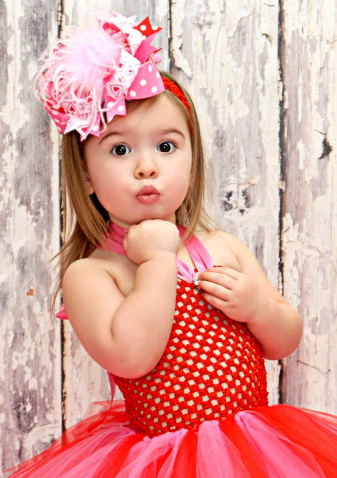 buy baby valentine bowsover the top bows valentines daybaby headbandsred - Baby Valentines