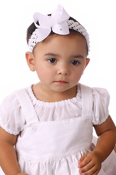 Dainty White Bling Baby Headband-CHOOSE COLOR