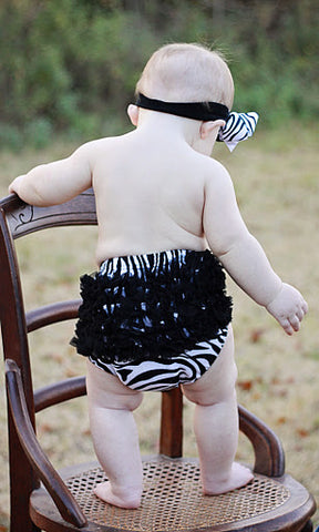 Girls Zebra Ruffled Bloomers