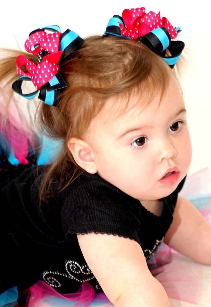 Buy Custom Pigtail Bow Set Infant Toddler Girl-Choose Color Online