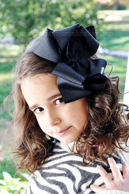 Extra Large Black Hair Bow, Black Hair Bow Texas Size