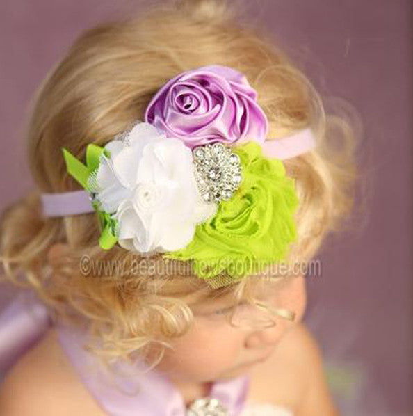 Vintage Flower Inspired by Tinkerbell Baby Headband