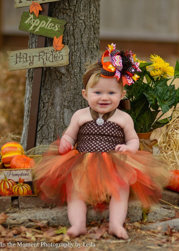 Handmade Fall Autumn,Thanksgiving Baby//Toddler// Girl Headband