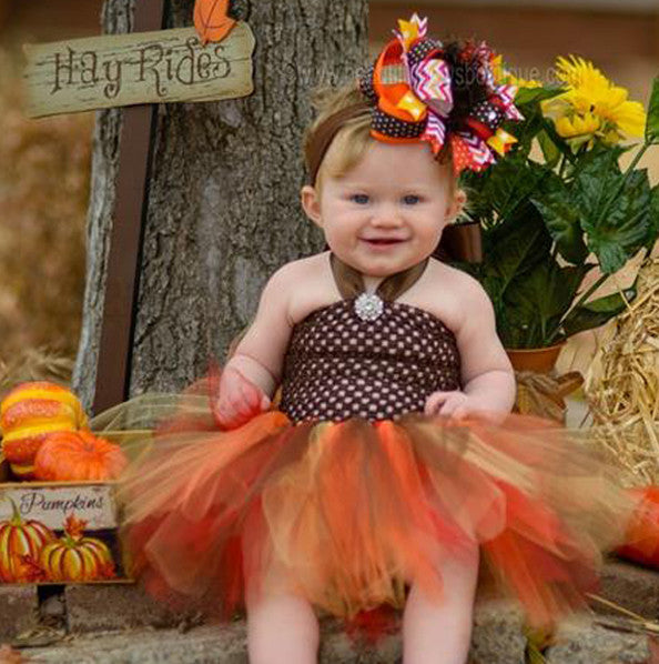 Thanksgiving Autumn Fall Tutu Dress for Baby Girls and Toddlers
