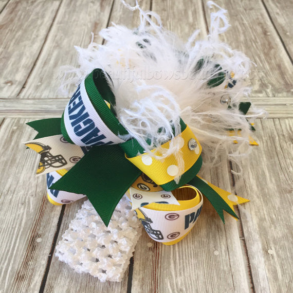 Big Green Bay Packers Hair Bow NFL