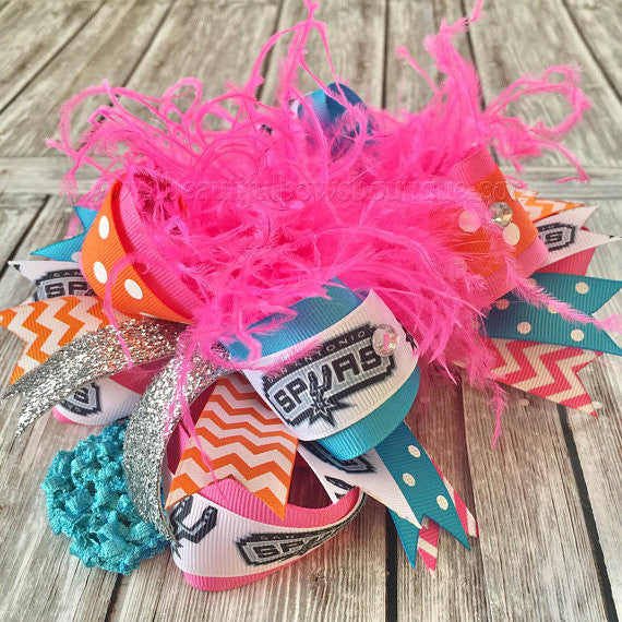 Buy Retro Spurs Hair Bow Basketball NBA Online