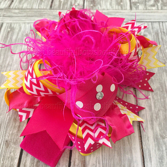 Buy Sunshine Birthday Bow Headband Pink and Yellow Online