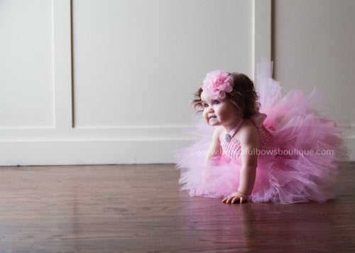 Light Pink Baby Tutu Dress Photo Prop Infant Toddler Girl