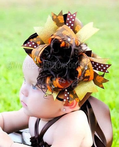 Fall Tutu Dress and Over the Top Bow
