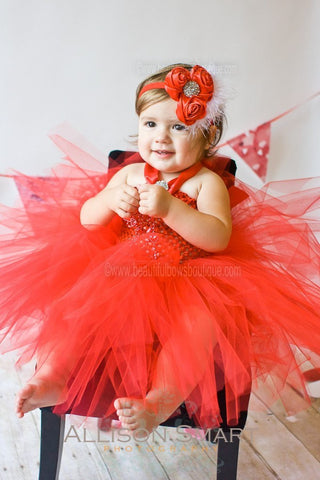 Red Tutu Dress Full and Fluffy