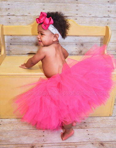 Buy Hot Pink Baby Tutu Cake Smash Outfit Online