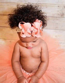 Coral Peach Baby Tutu Handmade Birthday Skirt