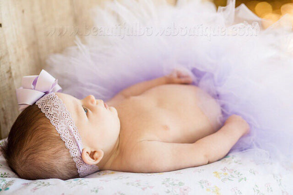 Newborn Baby Tutu Lavender Infant