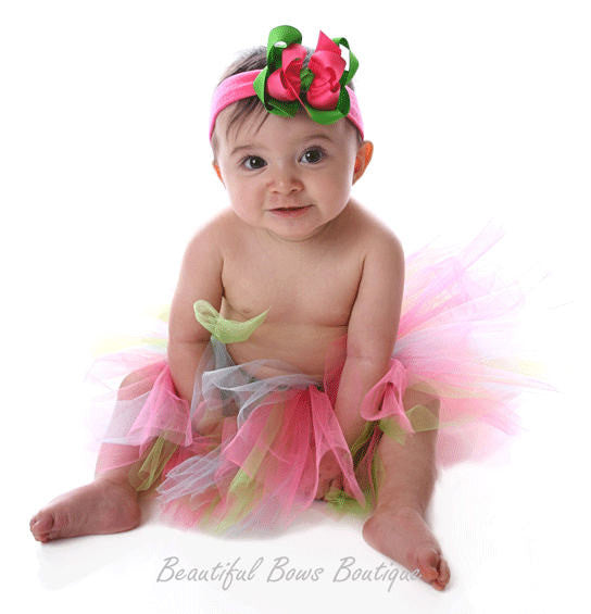 Buy Fluffy Baby Tutu White Lime Pink Online