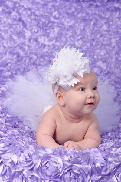 White Infant Tutu Newborn Photo Prop Outfit