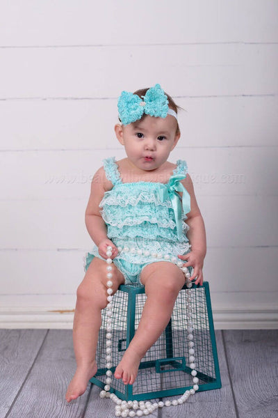 Baby Blue Petti Romper Toddler Girl