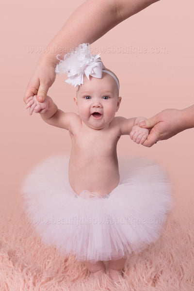 Baby Girl Cake Smash Tutu White