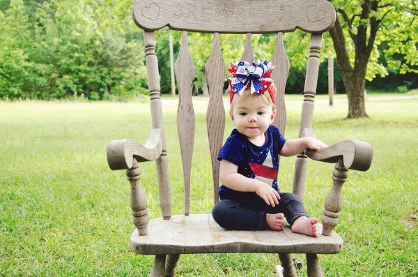 Buy Texas Rangers Baby Headband and Bow Online