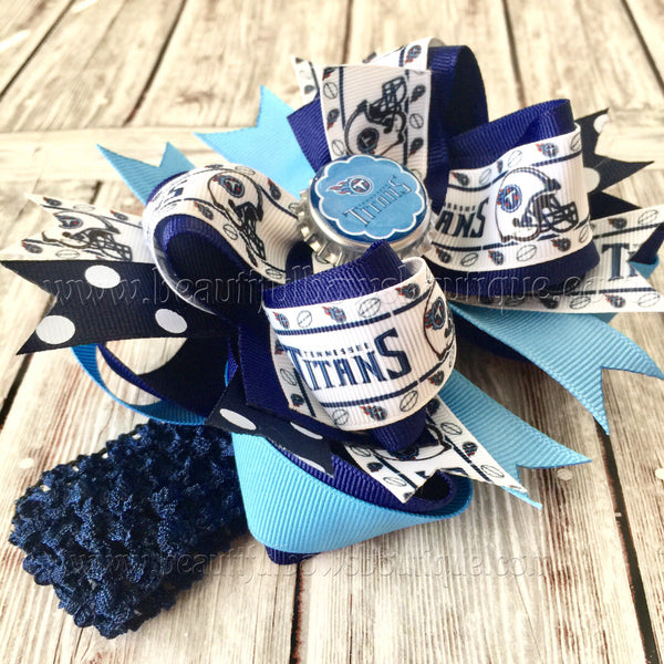 Tennessee Titans Baby Headband,Titans Hair Bow,Titans Football Bows,Baby Headbands,Newborn Headband,Infant Headband,Girls Titans Team Bow