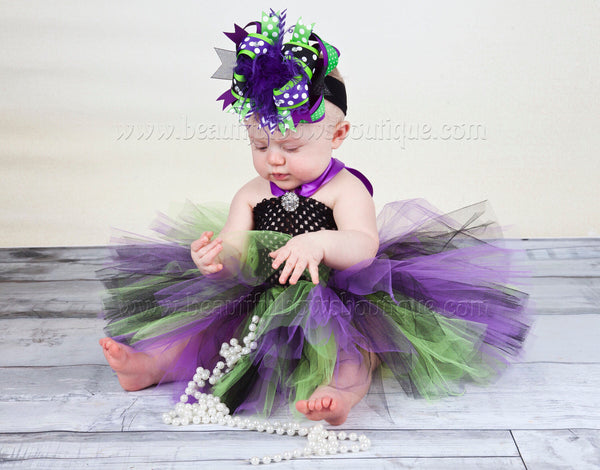 Witch Costume Tutu Dress Set Halloween Toddler