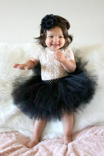 Black Baby Tutu Infant Tulle Skirt