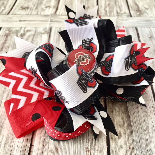 Buy Ohio State Baby Headband,Ohio State Hairbow,NCAA Baby Headband,Newborn Headbands,Infant Headbands,Sports Bows,Ohio State Baby Girl Headband Online