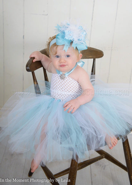 Blue and White Tutu Dress Cinderella Baby Girl