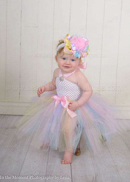 Pastel Baby Tutu Dress Easter Colors
