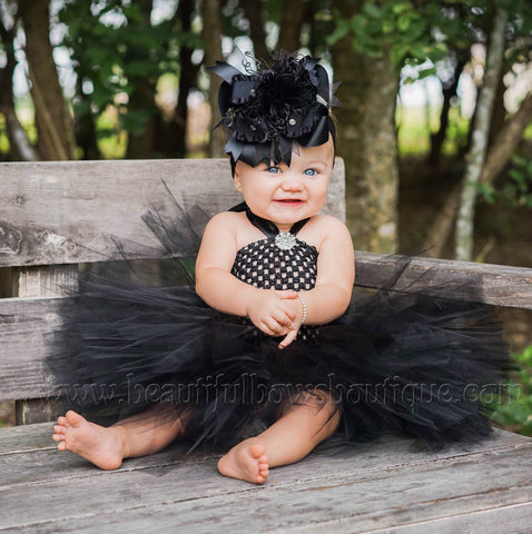 Buy Solid Black Baby Tutu Dress Flower Girl Online