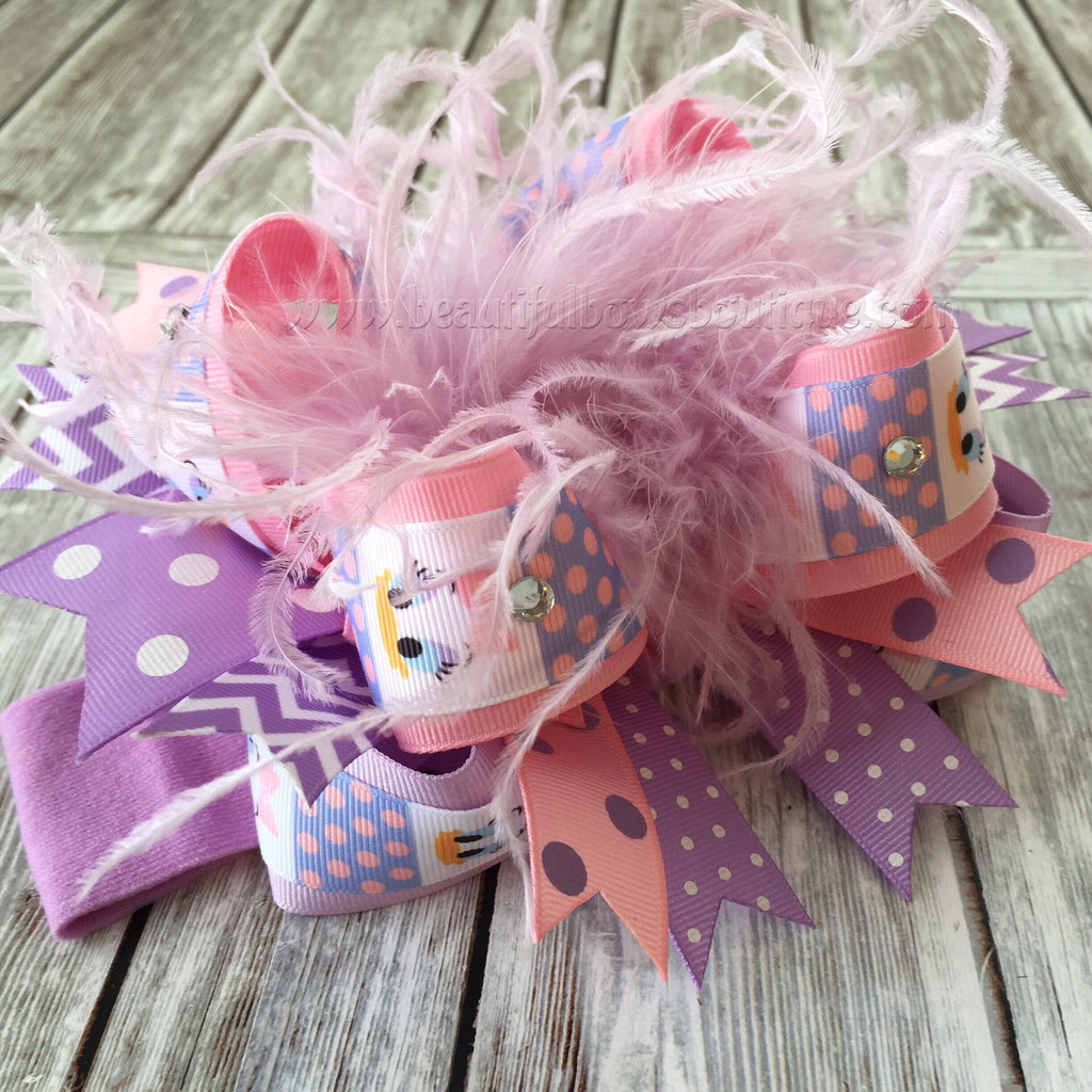 Daisy Duck Over the Top Hair Bow, Daisy Duck Bows