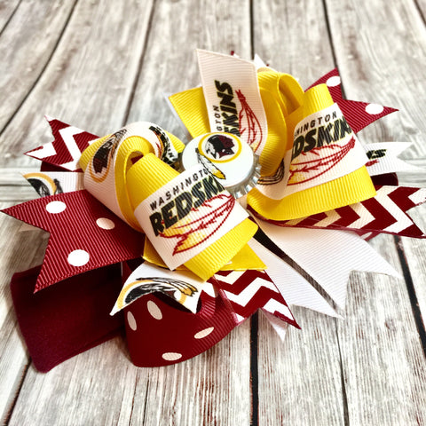 Buy Washington Red Skins Girls Hair Bow Clip or Headband Online