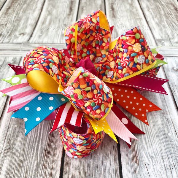 Candyland Hair Bow,  Candy Headband, Candyland Birthday