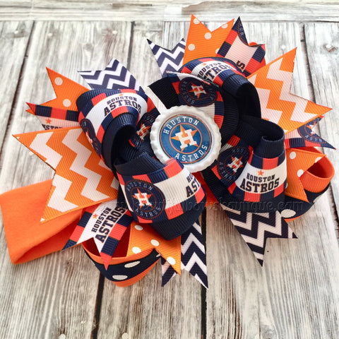 Buy Houston Astros Baby Headband,Astros Hairbow,MLB Baby Headband Online