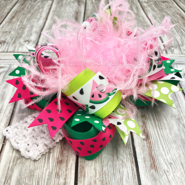 Buy Watermelon Hair Bow,Watermelon Birthday Headband,One in a Melon 1st Birthday Online