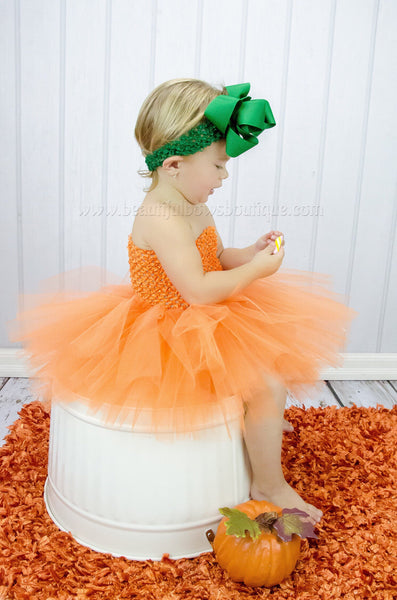 Pumpkin Orange Fall Baby Tutu Dress