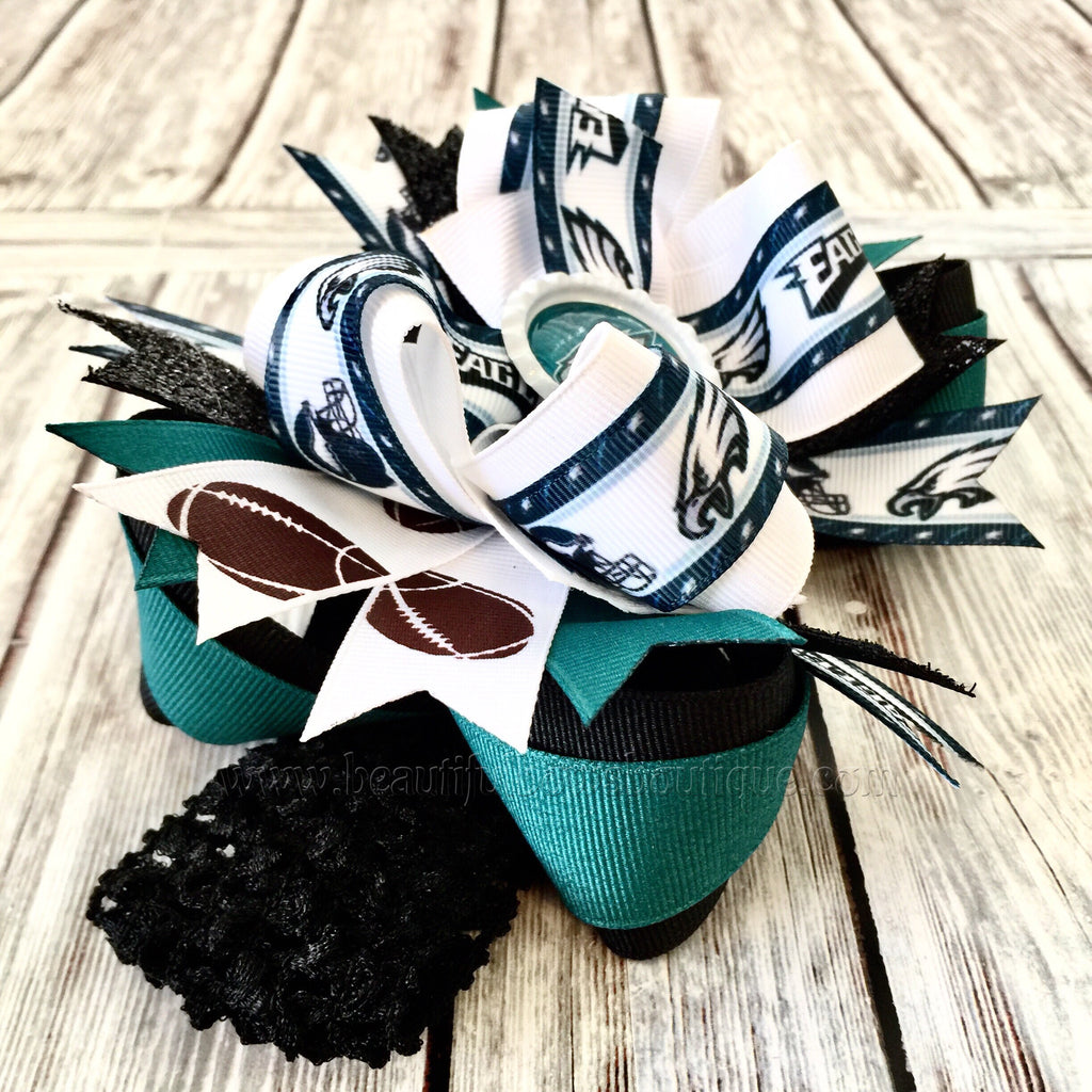 ... Buy Eagles Baby Headband Philadelphia Eagles Baby Girl NFL Eagles Hair  Bow Online ... 564c2b9e2cf