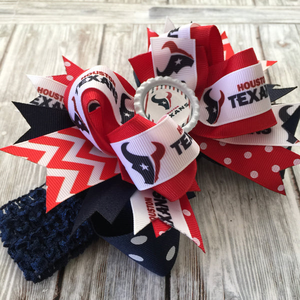 Buy Houston Texans Baby Headband Girls Hair Bow Clip NFL Online