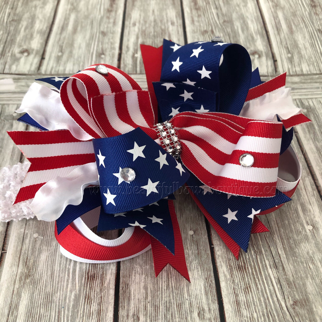 Buy 4th of July Hair Bow, July 4th Baby Bow Online