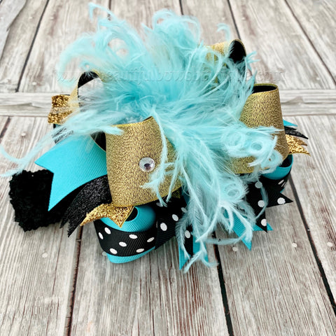 Buy Over the Top Bows Black and Tiffany Blue, Breakfast at Tiffany's Birthday Online