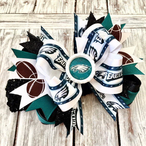Buy Eagles Baby Headband Philadelphia Eagles Baby Girl NFL Eagles Hair Bow Online