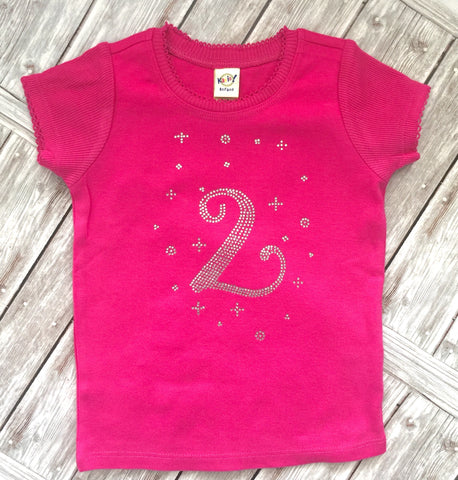 2 Year Birthday Rhinestone Shirt