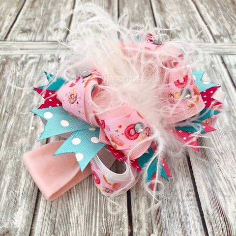 Buy Donut Over the Top Hair Bow, Donut Bow Headband Online