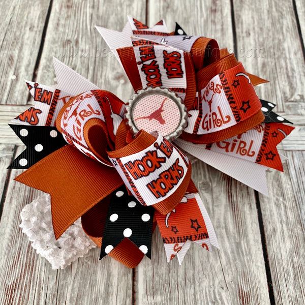 Buy Texas Longhorns Hairbow, Longhorns Baby Headband Online