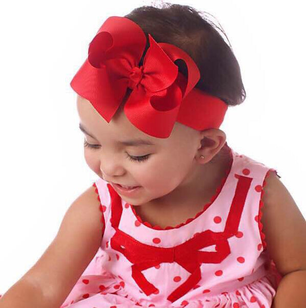 Buy Solid Plain Grosgrain Hair Bow or Baby Headband-CHOOSE COLOR Online