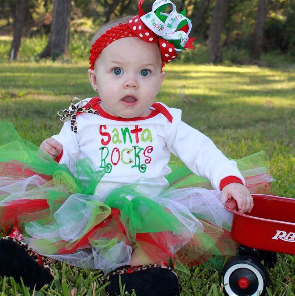 Christmas Baby Tutu and Headband Set Baby Girl Toddler
