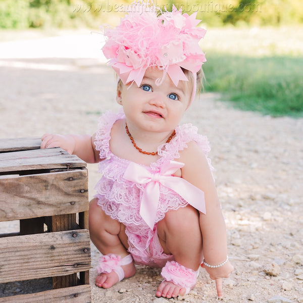 1st Birthday Girl Outfit,First Birthday Outfit ,Pink Romper